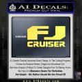 FJ Cruiser Decal Sticker DN Yellow Vinyl 120x120