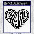 Family Heart Decal Sticker Retro Black Vinyl Logo Emblem 120x120