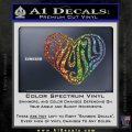 Family Heart Decal Sticker Retro Sparkle Glitter Vinyl Sparkle Glitter 120x120