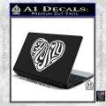 Family Heart Decal Sticker Retro White Vinyl Laptop 120x120