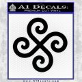 Female Swastika Rune Decal Sticker Black Vinyl Logo Emblem 120x120