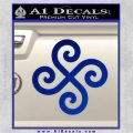 Female Swastika Rune Decal Sticker Blue Vinyl 120x120