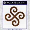 Female Swastika Rune Decal Sticker Brown Vinyl 120x120