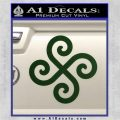 Female Swastika Rune Decal Sticker Dark Green Vinyl 120x120