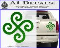 Female Swastika Rune Decal Sticker Green Vinyl 120x97