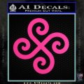 Female Swastika Rune Decal Sticker Hot Pink Vinyl 120x120