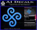 Female Swastika Rune Decal Sticker Light Blue Vinyl 120x97