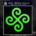 Female Swastika Rune Decal Sticker Lime Green Vinyl 120x120