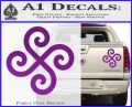 Female Swastika Rune Decal Sticker Purple Vinyl 120x97