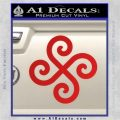 Female Swastika Rune Decal Sticker Red Vinyl 120x120