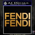 Fendi Decal Sticker 2PK Metallic Gold Vinyl 120x120