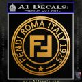Fendi Decal Sticker CR1 Metallic Gold Vinyl 120x120