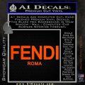 Fendi Decal Sticker Roma Orange Vinyl Emblem 120x120