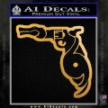 Florida Decal Sticker 3in1 Funny Gun Metallic Gold Vinyl 120x120