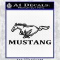 Ford Mustang Stacked Decal Sticker Black Vinyl Logo Emblem 120x120