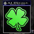 Four 4 Leaf Clover D1 Decal Sticker Lime Green Vinyl 120x120