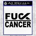 Fuck Cancer Ribbon Decal Sticker DG Black Vinyl Logo Emblem 120x120