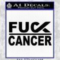 Fuck Cancer Ribbon Decal Sticker DG Black Vinyl Logo Emblem 120x120