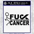 Fuck Cancer Ribbon Decal Sticker Stick Figure Black Vinyl Logo Emblem 120x120