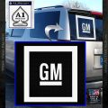 GM General Motors Decal Sticker SQ White Vinyl Emblem 120x120