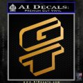 GT Decal Sticker DNG Metallic Gold Vinyl 120x120