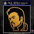 George Michael D3 Decal Sticker Metallic Gold Vinyl 120x120