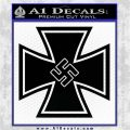 German Iron Cross Swastika Decal Sticker Black Vinyl Logo Emblem 120x120