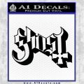 Ghost Band Decal Sticker DT Black Vinyl Logo Emblem 120x120
