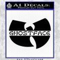 Ghostface Killah Logo Decal Sticker Black Vinyl Logo Emblem 120x120