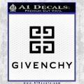 Givenchy Logo Full Decal Sticker Black Vinyl Logo Emblem 120x120