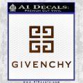 Givenchy Logo Full Decal Sticker Brown Vinyl 120x120
