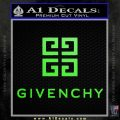 Givenchy Logo Full Decal Sticker Lime Green Vinyl 120x120