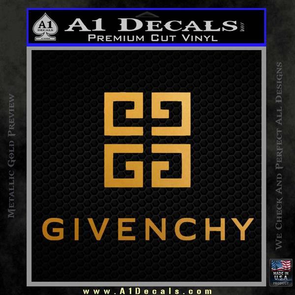 Givenchy Logo Full Decal Sticker Metallic Gold Vinyl