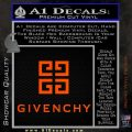 Givenchy Logo Full Decal Sticker Orange Vinyl Emblem 120x120