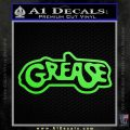 Grease Movie Decal Sticker C1 Lime Green Vinyl 120x120