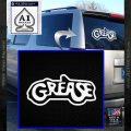 Grease Movie Decal Sticker C1 White Vinyl Emblem 120x120