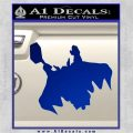 Greek God Thor Decal Sticker Flying Blue Vinyl 120x120