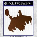 Greek God Thor Decal Sticker Flying Brown Vinyl 120x120