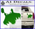 Greek God Thor Decal Sticker Flying Green Vinyl 120x97