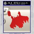 Greek God Thor Decal Sticker Flying Red Vinyl 120x120