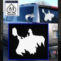 Greek God Thor Decal Sticker Flying White Vinyl Emblem 120x120
