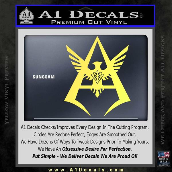 gundam char aznable decal sticker a1 decals