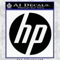 HP Logo Decal Sticker Hewlett Packard Black Vinyl Logo Emblem 120x120