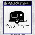Happy Camper RV Decal Sticker Black Vinyl Logo Emblem 120x120