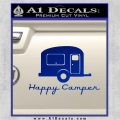 Happy Camper RV Decal Sticker Blue Vinyl 120x120