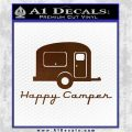 Happy Camper RV Decal Sticker Brown Vinyl 120x120