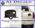 Happy Camper RV Decal Sticker Carbon Fiber Black 120x97