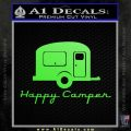 Happy Camper RV Decal Sticker Lime Green Vinyl 120x120