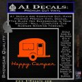 Happy Camper RV Decal Sticker Orange Vinyl Emblem 120x120