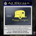 Happy Camper RV Decal Sticker Yellow Vinyl 120x120